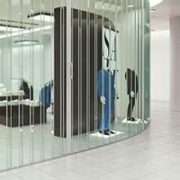 Series 540 Visifold Heavy-Duty See-Through Security Door