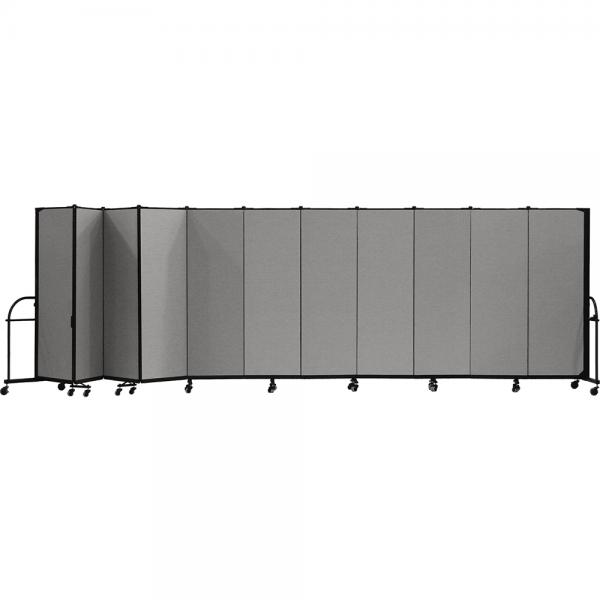 Screenflex Heavy Duty Room Dividers (11 Panels) - Stone