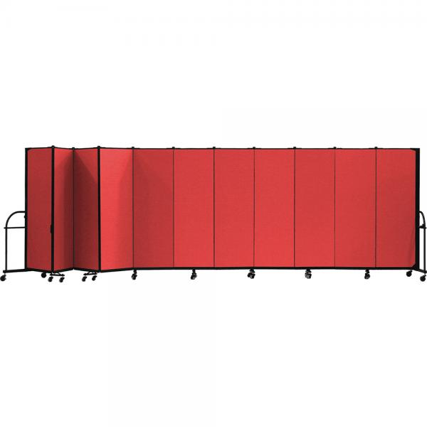 Screenflex Heavy Duty Room Dividers (11 Panels) - Red