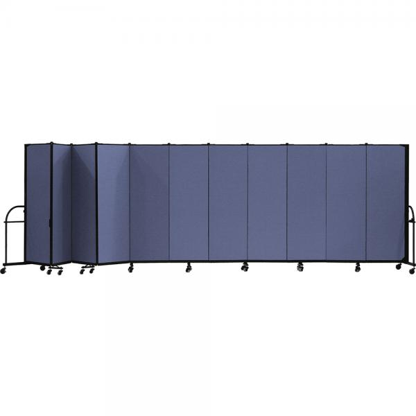 Screenflex Heavy Duty Room Dividers (11 Panels) - Blue