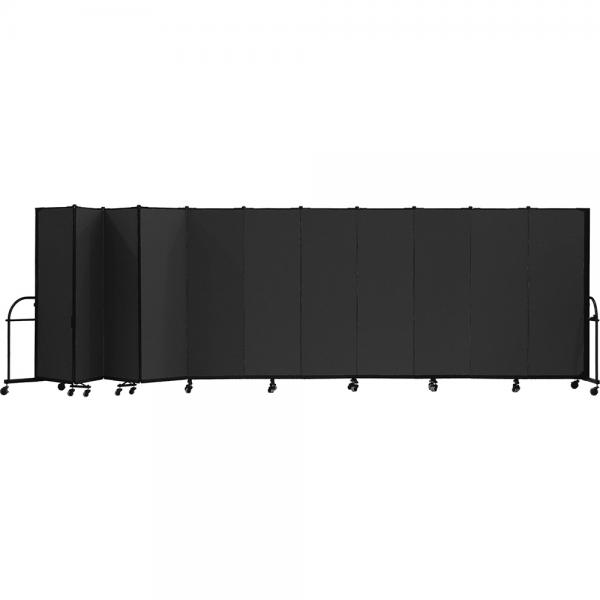 Screenflex Heavy Duty Room Dividers (11 Panels) - Charcoal