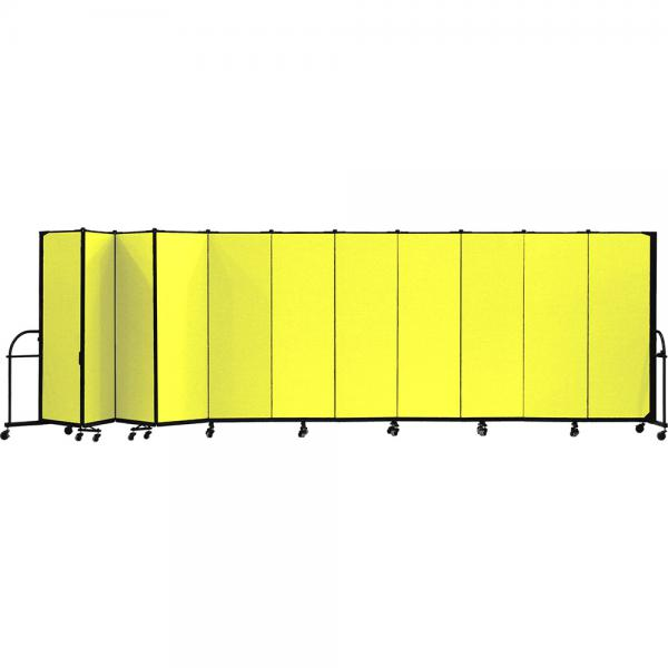 Screenflex Heavy Duty Room Dividers (11 Panels) - Yellow