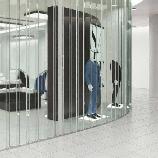 Woodfold Security Accordion Doors | Space Management Products