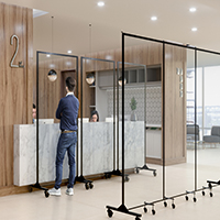 View: Screenflex Clear Room Dividers