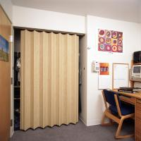 View: Woodfold Series 140H: Residential Closet Doors Finished one side only (Hardwood Finish)