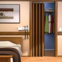 View: Woodfold Series 140H: Residential Closet Doors (Hardwood Finish)