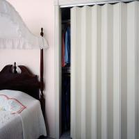View: Woodfold Series 140V: Residential Closet Doors Finished one side only (Vinyl Laminate)